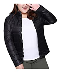 JXG-Women Plus Size Packable Ultra Light Weight Short Down Jacket