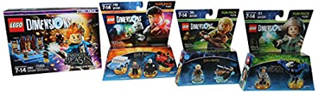 Warner Home Video - LEGO Dimensions Bundle: Fantastic Beasts Fun Pack, Lord Of The Rings Legolas Fun Pack, Harry Potter Team Pack & Fantastic Beasts Story Pack