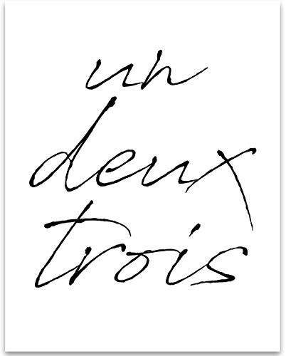 - Un Deux Trois - 11x14 Unframed Typography Art Print - Great French Art Wall Decor Under $15