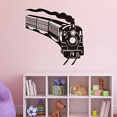 jiuyaomai Locomotora Tren Vinilo Pegatinas de Pared Decoración ...