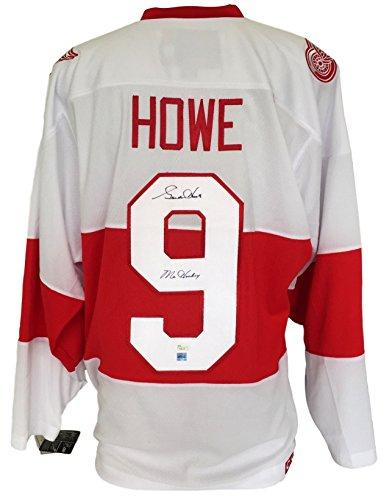 Gordie-Howe-Signed-Detroit-Red-Wings-CCM-Jersey-Mr-Hockey-JSA