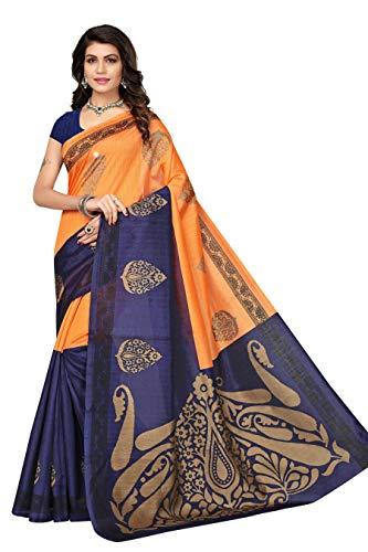 Jaanvi fashion Women's Bhagalpuri Silk Paisley Printed Saree ()