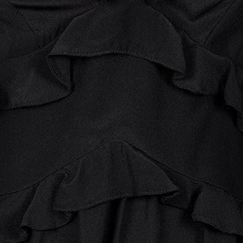 A Manica Di Pinko 3 Piu' Scollo Nero Donna Seta Rouches 4 Blusa V Benedetto Crepe q8SwIS1Ex