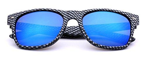 Carbon Fiber Style Retro Fashion Sunglasses Carbon Fiber   Ice