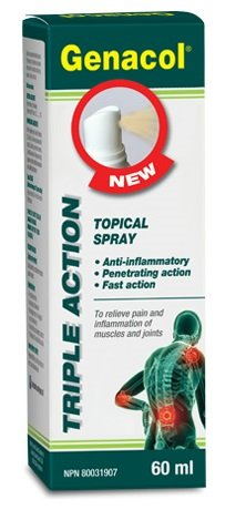 Genacol Triple Action Topical Spray (60mL) Brand: Genacol