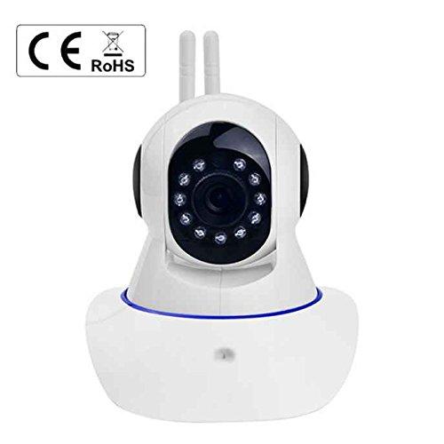 Baby Pet monitor video, rilevazione di movimento 720p telecamera IP wireless Baby monitor video Pet rete bidirezionale audio WiFi telecamera IP HD Plug & Play pan/tilt 720p WiFi telecamera IP