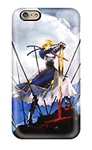Ultra Slim Fit Hard Leslie White Case Cover Specially Made For Iphone 6- Fate/stay Night