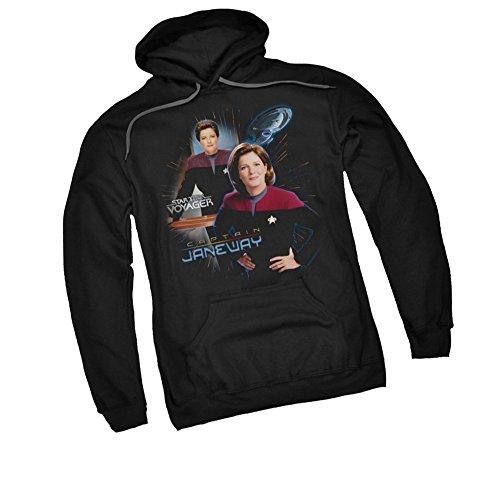 Captain Janeway -- Star Trek: Voyager Adult Hoodie Fleece Sweatshirt, Large
