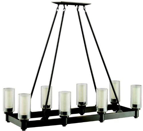 [Kichler Lighting 2943OZ, Circolo 8-Light Linear Chandelier, Olde Bronze] (8 Light Linear Chandelier)