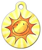 Dog Tag Art Custom Pet ID Tag for Dogs – Sun Smile – Large – 1.25 inch, My Pet Supplies