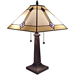 Amora Lighting AM098TL13 Tiffany Style Mission Design Table Lamp 21 In