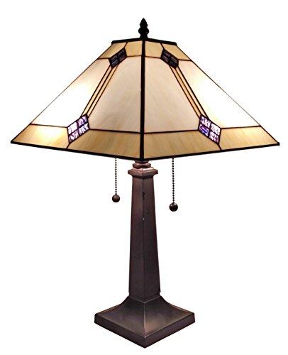 Amora Lighting AM098TL13 Tiffany Style Mission Design Table Lamp 21 In - Beige Mission Desk Lamp