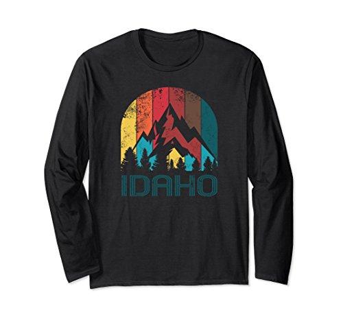 Unisex Retro Idaho T Shirt for Men Women and Kids XL (Idaho Long Sleeve)