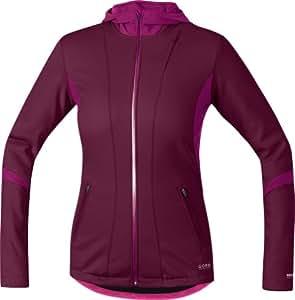 Gore Bike Wear Women's Sunlight Windstopper Hoody, Shiraz Red/Thai Pink, Medium