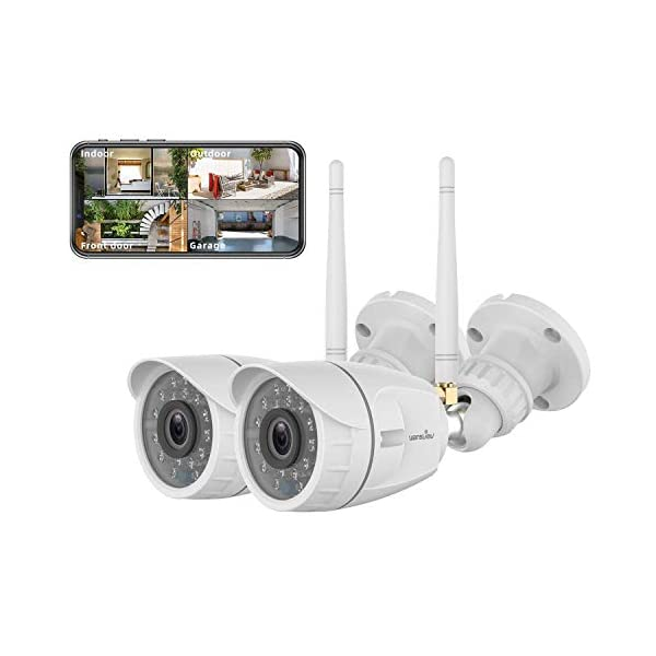 Outdoor Security Camera, Wansview 1080P Wireless WiFi Home Surveillance Waterproof...