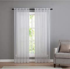 Classic Designer Sheer Voile Curtain Window Treatments For The Home. Available In A Wide Variety Of Colors & Sizes To Suit Any Window Treatment Need.