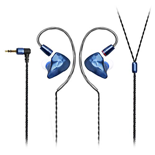 Ikko OH1 in-Ear Monitors Singers Earphones/Earbuds IEMs Sound Quality Transparent Stereo and Rich Bass Effect 2-pin Interchangeable Wire Design, Comfortable and Light Metal Cavity(Starry Blue)