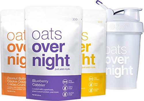 Oats Overnight Dairy-Free - Premium High-Protein, Low-Sugar, Gluten-Free (2.6oz per pack) (Starter Pack)
