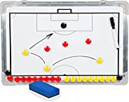 Sport Magnet Board with Marker Pieces - Perfect to Coach Soccer, Basketball, Hockey, and More by Trademark Inn