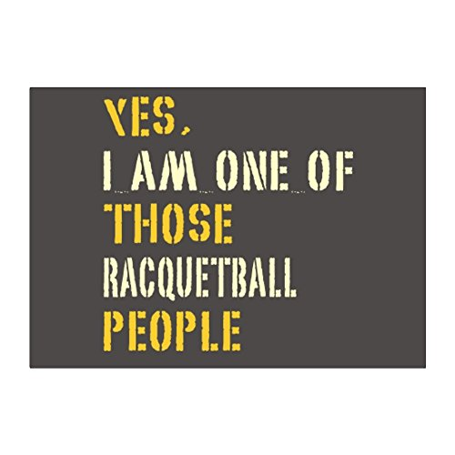 Teeburon YES I AM ONE OF THOSE Racquetball PEOPLE Pack of 4 Stickers