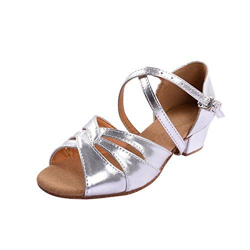 Kevin Fashion ,  Mädchen Tanzschuhe Silber