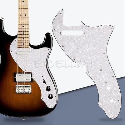 - FidgetGear 69 Telecaster Tele Thinline Re-Issue Style Guitar Pickguard 3 Ply White Pearl