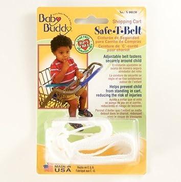 Amazon.com : Baby Buddy Shopping Cart Child / Baby Safe-T-Belt Adjustable Waist Belt - Navy Blue : Baby