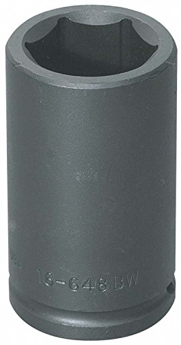 (Williams Tools 16-648BW - Impact Socket - 3/4 in Drive, 6 PT, Black, 4 in OAL, Imperial)