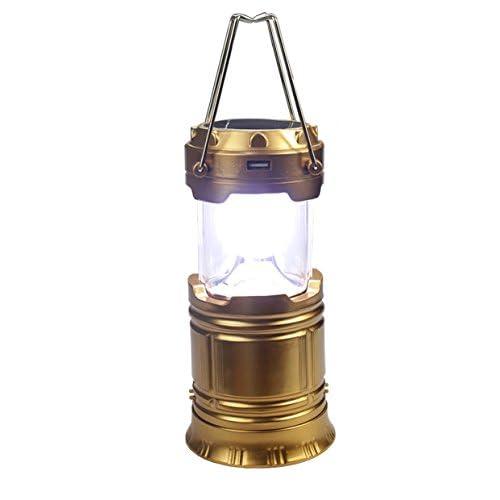 Jiangu Super Lumineux à énergie solaire lampe de camping, lampe de camping portable d'urgence lampe Lanterne Tente lumières LED batterie lumières 10CM*15CM doré