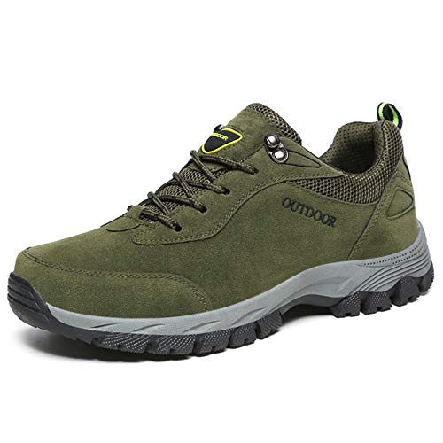 KCatsy Outdoor Durable Classic Comfortable Anti-Slip Hiking Shoes for Men Army Green