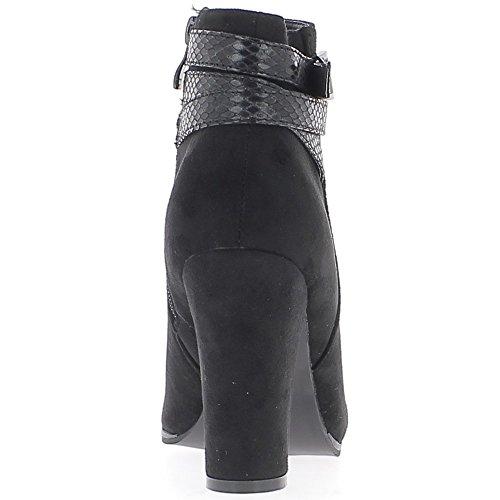 Botas de las mujeres negras en el tacón de 10cm