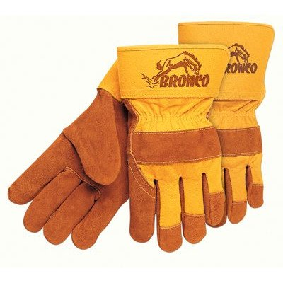 - Premium Side Split Cow Gloves - bronco side leather palmgloves 2-1/2