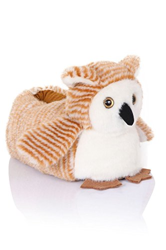 Loungeable Boutique, Mujer Chica Cómodo Novedad Animal Pantuflas Ollie Owl