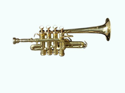 Queen Brass Top Quality Picollo BB Pitch Piccolo Trumpet Brass Finish With Mouth Piece MI 038