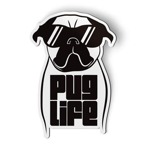 AK Wall Art Pug Life Funny Cute - Magnet - Car Fridge Locker - Select Size
