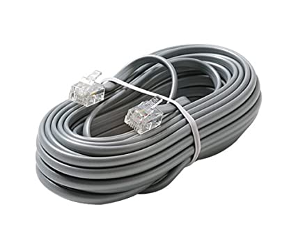 Steren 304-050SL 50 feet 4C Silver Telephone Line Cord