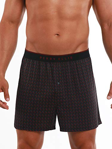 Perry Ellis Men's Luxe Button Fly Boxer Short