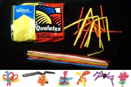 Qualatex 260Q Pencil Balloons - Traditional Assortment - 100/bag (Balloon Pencils)