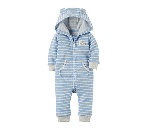 [Carter's Baby Boys Hooded Bear Jumpsuit 18 Months] (Suits For Sale)