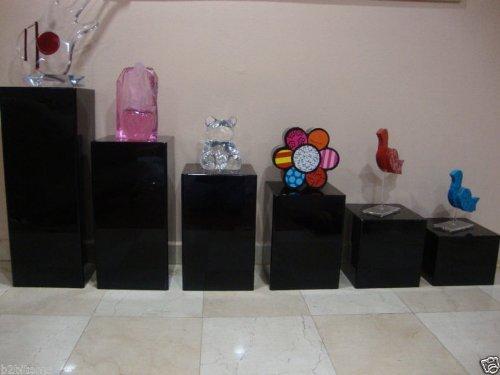 Acrylic Lucite Display Cube Pedestal Art Sculpture Stan (...