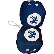 MLB New York Yankees Plush Team Fuzzy Dice, Blue