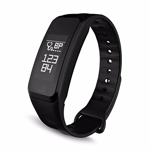 Price comparison product image Boofab Fitness Tracker, R1 Smart Watch with Blood Pressure Heart Rate Sleep Pedometer Camera remote shoot Blood Oxygen Monitor Smart Wristband Bracelet R5 for Bluetooth Andriod and ios (Black)