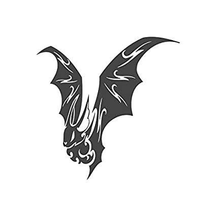 Amazon Flying Bat Pre Inked Image Rubber Stamp 430192 Blue Ink Size 30x30mm Office Products