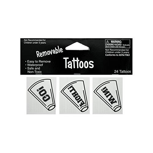 Kole Imports KK926 Removable White Cheer Tattoos