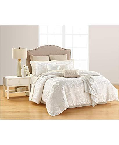 Martha Stewart Collection Chateau Antique Filigree 14 Piece California King Comforter Set White