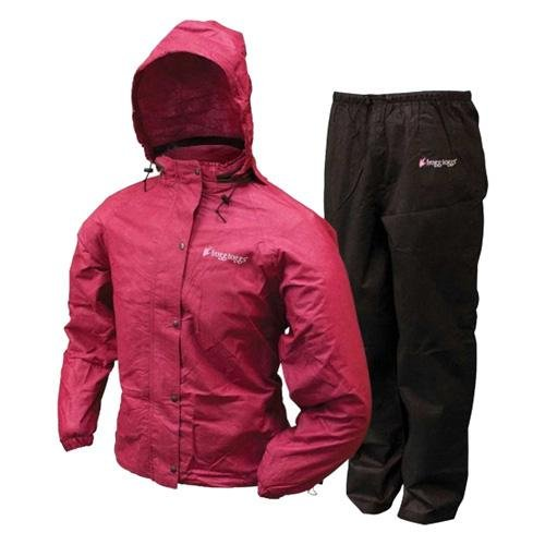 Frogg Toggs Womens All Purpose Rain Suit CherryBlack Small