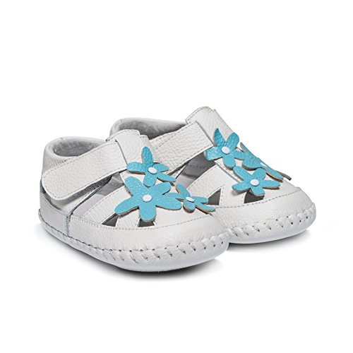 Little Blue Lamb Chaussures souples bébé Sandales 35613Blanc Turquoise Turquoise Taille: 12–18mois, Couleur: Blanc