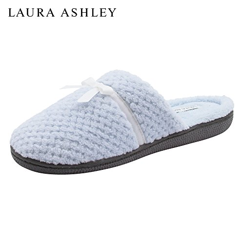 Terry Plush Party Textured Foam Memory Rugged Laura Ashley Slipper Insole amp; Ladies Open Back Pool Outsole tq7Ig