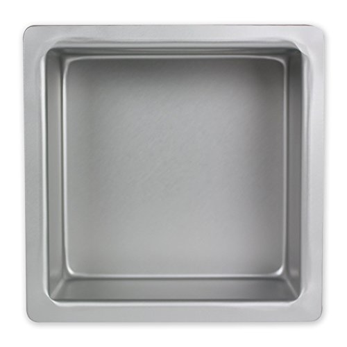 PME Square Seamless Aluminum Baking Pan, Standard, Silver by PME