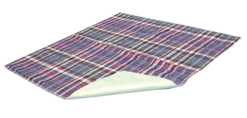 Essential Medical Supply Quik Sorb 18 x 24 Plaid Quilted Reusable Underpad by Essential Medical Supply
